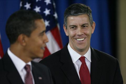 Arne Duncan Accepting Obama Nomination